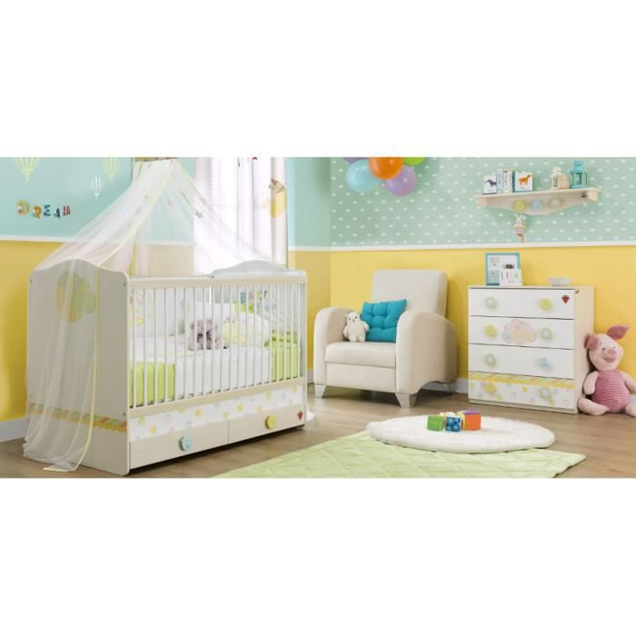 Chambre coucher b b ilek baby dream compl te achat for Acheter une chambre a coucher complete