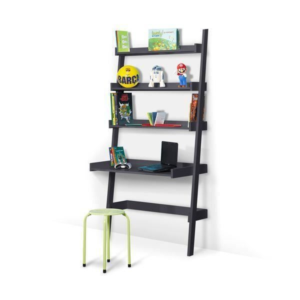 bureau etagere enfant gris anthracite achat vente bureau bureau etagere enfant gri. Black Bedroom Furniture Sets. Home Design Ideas
