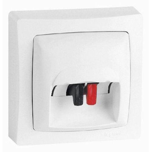 legrand leg97439 prise haut parleur saillie blanc achat vente prise cdiscount. Black Bedroom Furniture Sets. Home Design Ideas