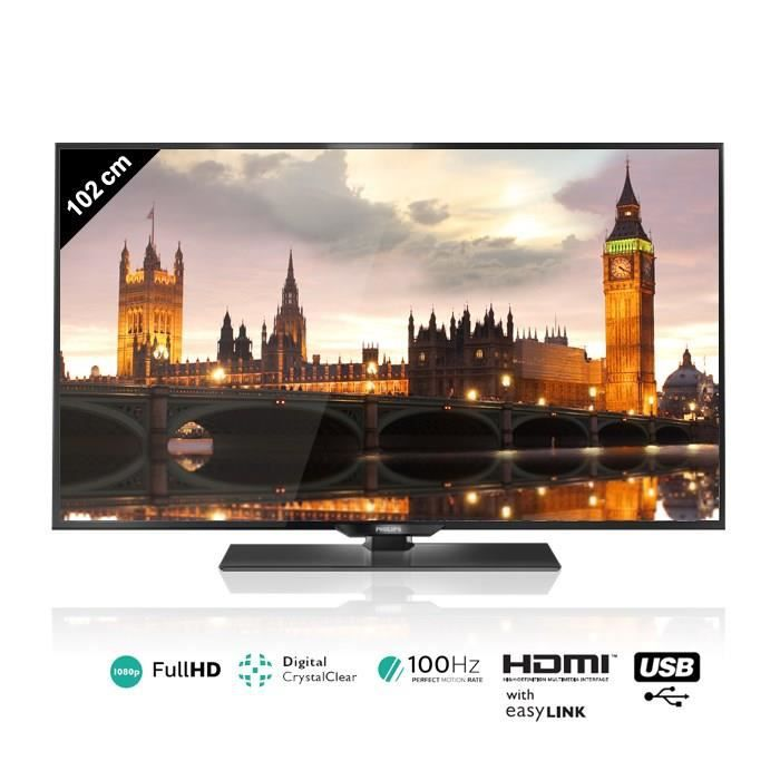 philips 40pfh4309 tv led full hd 102 cm achat vente. Black Bedroom Furniture Sets. Home Design Ideas