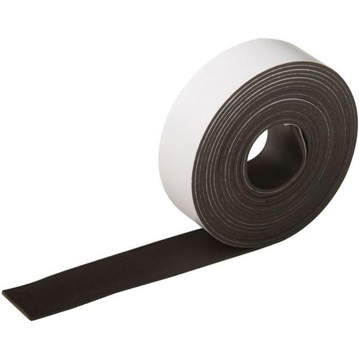 bande souple aimant e autocollante 25 mm x 3 m achat vente doigt magn tique bande souple. Black Bedroom Furniture Sets. Home Design Ideas