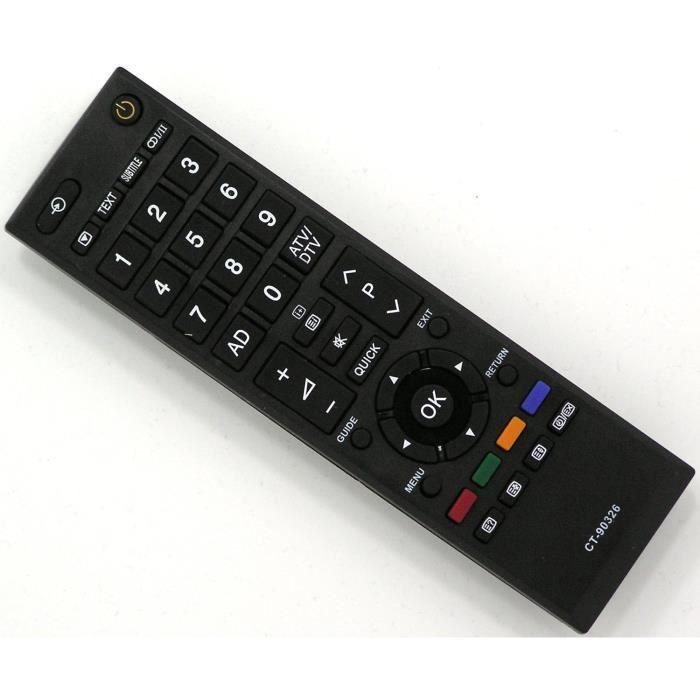 t l commande toshiba ct 90326 d 39 origine t l commande tv avis et prix pas cher soldes d t. Black Bedroom Furniture Sets. Home Design Ideas
