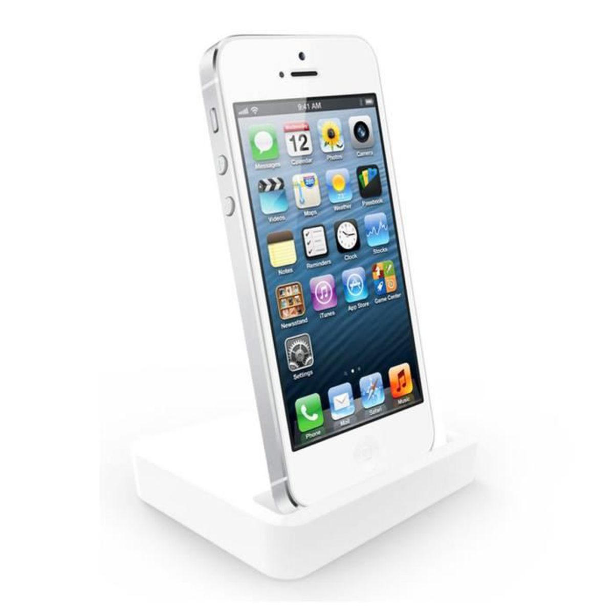 Station d?accueil iPhone 5-5s-6 - Blanc - Prix pas cher - Cdiscount