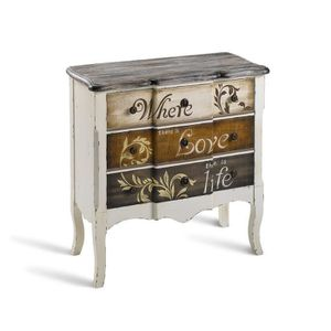 Commode baroque achat vente commode baroque pas cher cdiscount - Commode chambre blanc laque ...