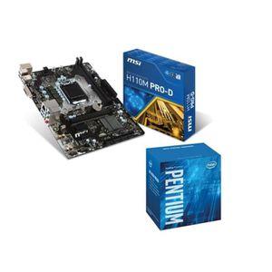 PACK COMPOSANT KIT Skylake Pentium G4400 + MSI H110M PRO-D