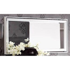 Miroir design laque blanc alexandris achat vente for Miroir soldes
