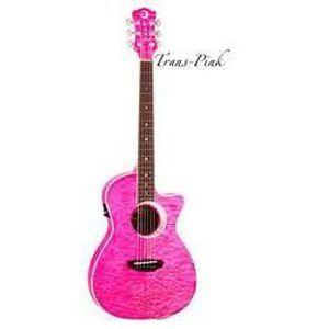 GUITARE Luna Eclipse Guitare électro-acoustique Rose