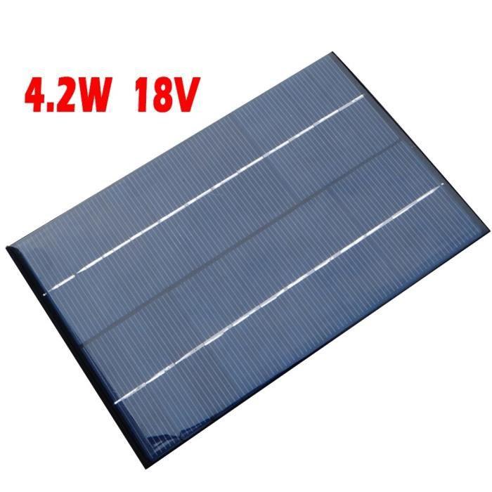 1 pcs solaire cellule panneau pour batterie chargeur sac dos puissance 4 2w 18v du bricolage. Black Bedroom Furniture Sets. Home Design Ideas