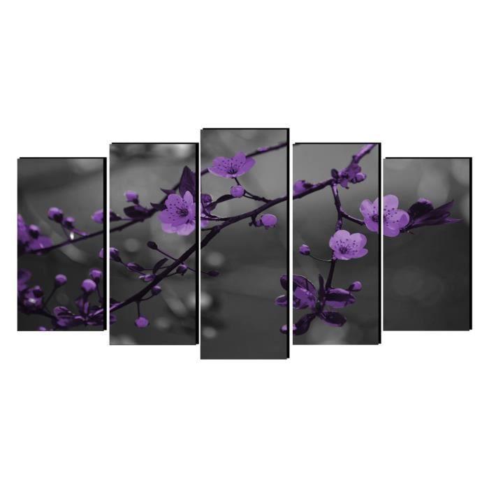 toile tableau cadre design moderne fleur pourpre 07 achat vente tableau toile les soldes. Black Bedroom Furniture Sets. Home Design Ideas