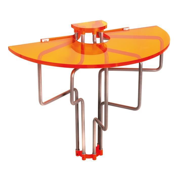 Table Murale Rabattable En Pmma Orange Table De Cuisine Pliable Table D 39 Ext Rieur Tous