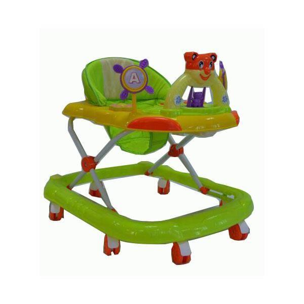 trotteur youpala pour b b vert et orange 6 12 mois avec. Black Bedroom Furniture Sets. Home Design Ideas