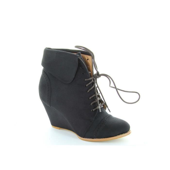 chaussure compense lacet. Black Bedroom Furniture Sets. Home Design Ideas