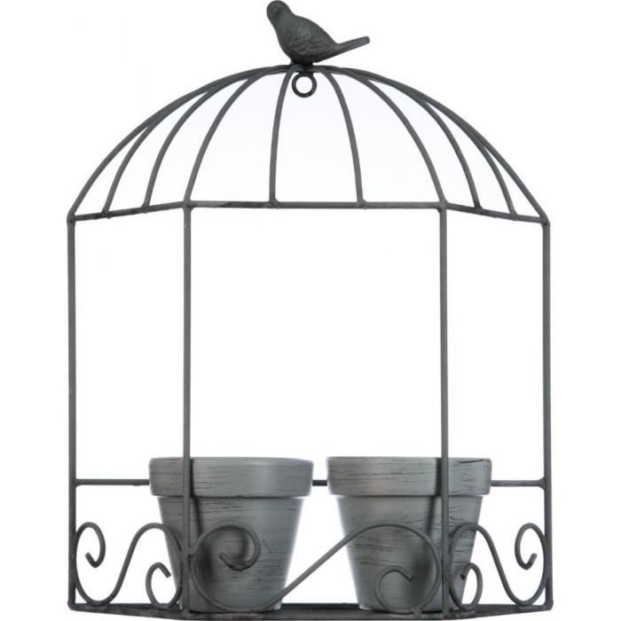 cages a oiseaux deco par 2 achat vente cages a oiseaux deco par 2 pas cher cdiscount. Black Bedroom Furniture Sets. Home Design Ideas