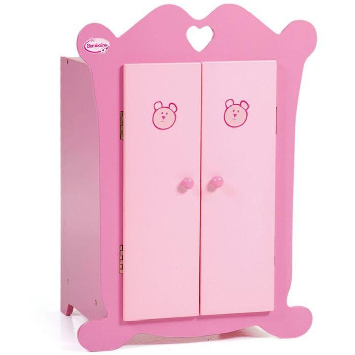 armoire bois gamme bambolina pour poup es achat vente. Black Bedroom Furniture Sets. Home Design Ideas