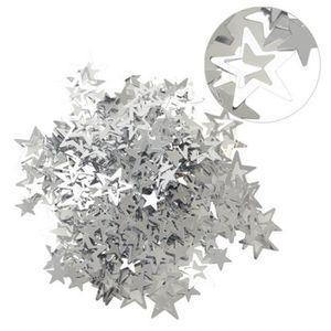 Décors de table Sequin étoiles en sachet 14 g argenté