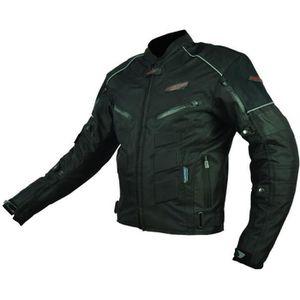 BLOUSON - VESTE Blouson Moto Textile Noir - Protections CE