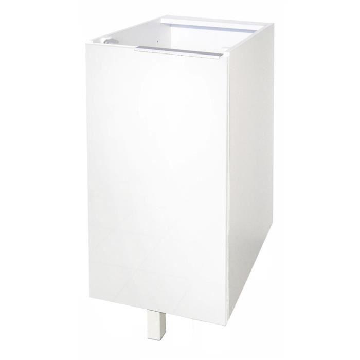 Meuble bas 30 cm blanc haute brillance achat vente - Meuble bas 30 cm ...
