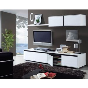 meuble tv achat vente meuble tv pas cher soldes cdiscount. Black Bedroom Furniture Sets. Home Design Ideas