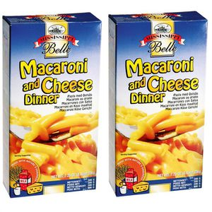 PÂTES ALIMENTAIRES Macaroni and cheese. Lot de 2