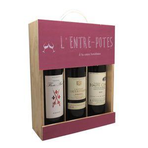COFFRET CADEAU VIN Coffret 3 bouteilles Vin Entre potes