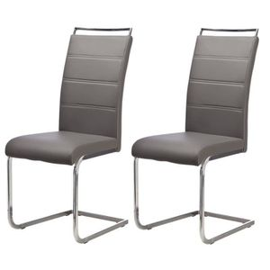 CHAISE DYLAN Lot de 2 chaises de salle à manger en simili