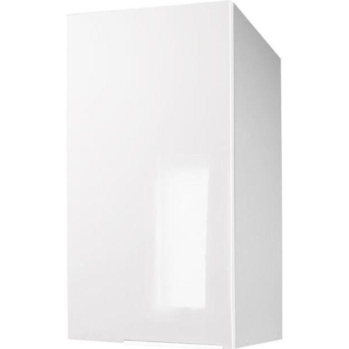 Caisson porte haut 30 cm blanc haute brillance achat for Porte caisson de cuisine