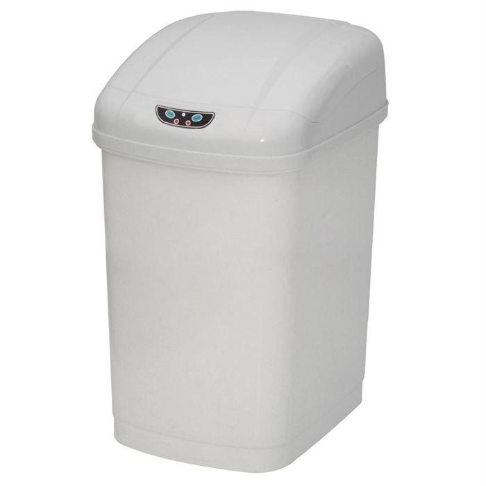 poubelle automatique abs blanche 23l achat vente poubelle corbeille poubelle automatique. Black Bedroom Furniture Sets. Home Design Ideas