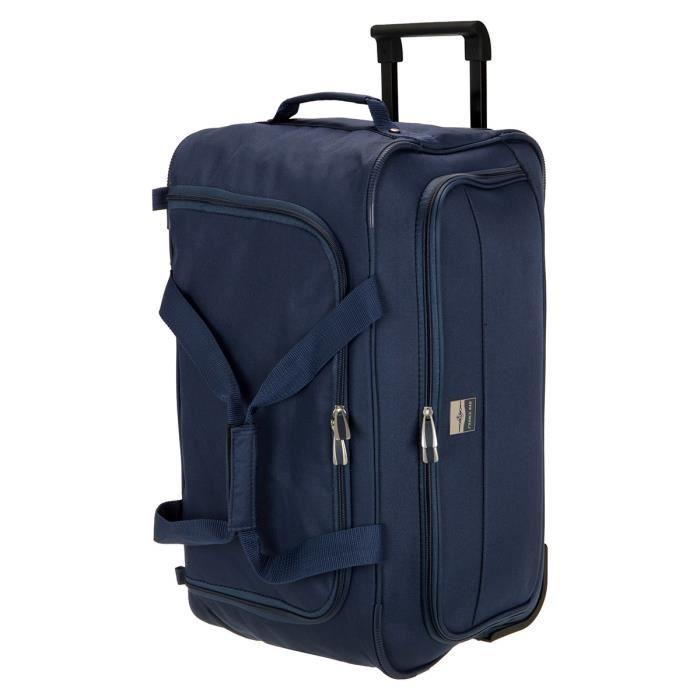 france bag sac de voyage roulettes souple 56 cm marine marine achat vente sac de voyage. Black Bedroom Furniture Sets. Home Design Ideas