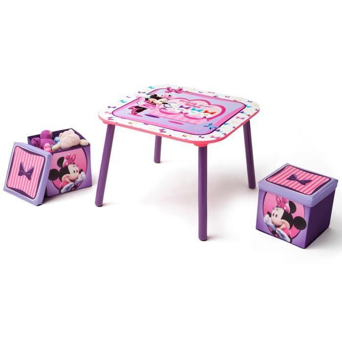 Delta children minnie table enfant et 2 poufs de rangement for Jouet exterieur 3 ans