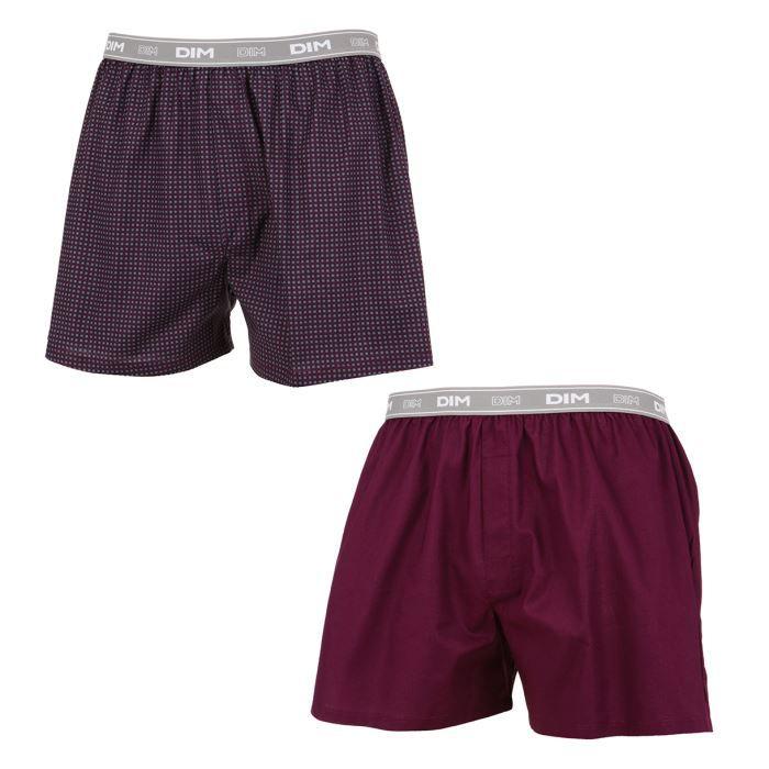 dim lot de 2 cale ons homme violet et bordeaux achat. Black Bedroom Furniture Sets. Home Design Ideas