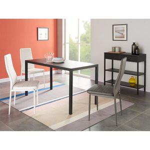 TABLE A MANGER SEULE CAMDEN Table à manger en métal 6 personnes 140x70