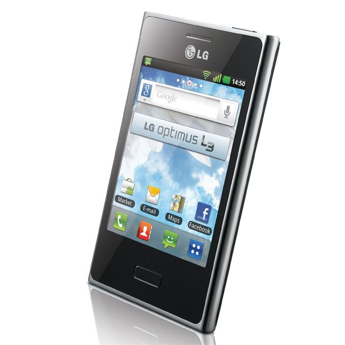 lg optimus l3 noir achat smartphone pas cher avis et. Black Bedroom Furniture Sets. Home Design Ideas