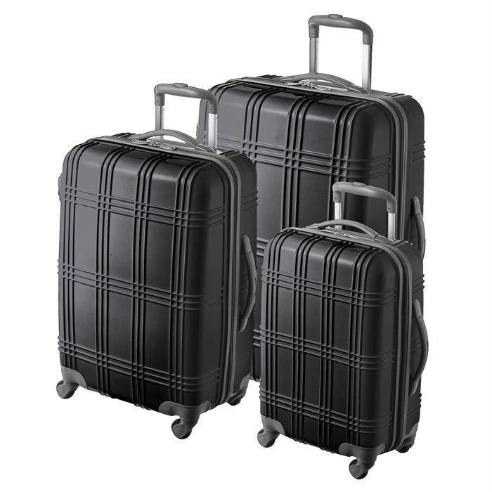 pascal morabito set de 3 valises trolley zinc noir achat vente set de valises 3607070133002. Black Bedroom Furniture Sets. Home Design Ideas