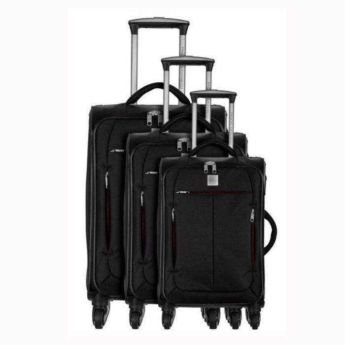 pascal morabito 3 valises trolley 4 roues styx noir achat vente set de valises pascal. Black Bedroom Furniture Sets. Home Design Ideas