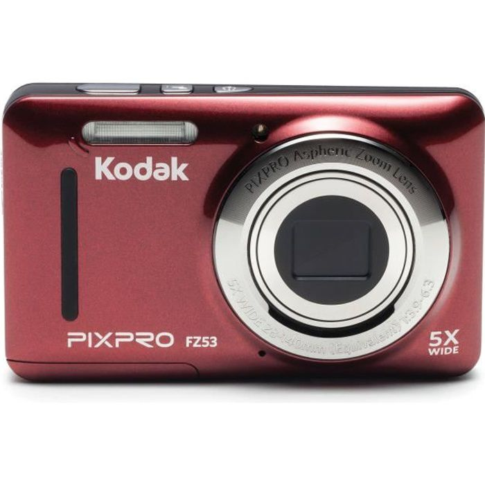 kodak fz53 rd appareil photo compact rouge achat. Black Bedroom Furniture Sets. Home Design Ideas