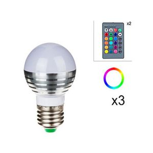 ampoule led multicolore e27 avec telecommande achat vente ampoule led multicolore e27 avec. Black Bedroom Furniture Sets. Home Design Ideas