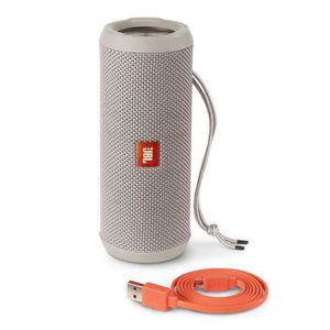 JBL Flip 3 - Enceinte Bluetooth 4.1 - Puissance 16W - Autonomie de 10h - Résistante aux éclaboussures - Couleur Gris