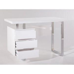 bureau blanc laque achat vente bureau blanc laque pas. Black Bedroom Furniture Sets. Home Design Ideas