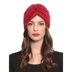 CHAPEAU - BOB Chapeau Femme Style Turban Effet Croisé Rouge CHOI