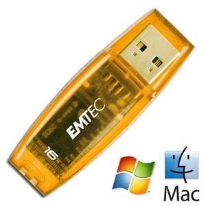 Comparer EMTEC C400 ORANGE 16GO