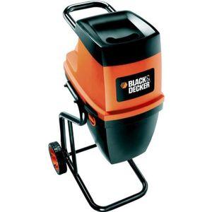 BROYEUR - ACCESSOIRE BLACK&DECKER Broyeur de végétaux électrique 2400 W