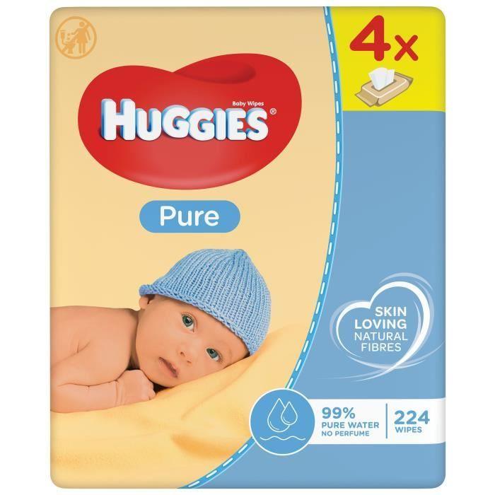Huggies nouvelles lingettes pure 4 x 56 blanc achat - Pas de retour de couche sans allaitement ...