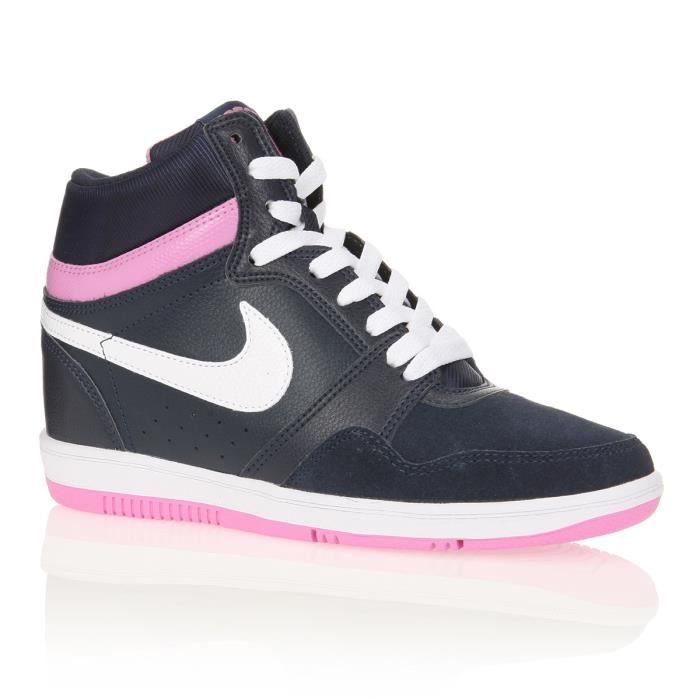 nike baskets force sky high femme femme bleu marine blanc parme achat vente nike baskets. Black Bedroom Furniture Sets. Home Design Ideas