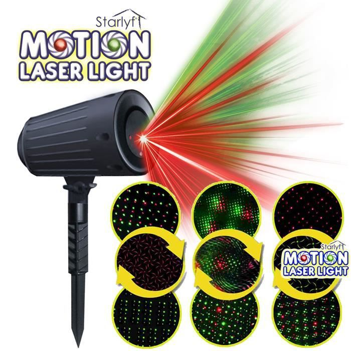 Syst me d clairage starlyf motion laser light achat vente projecteur laser no l cdiscount for Projecteur laser shower motion