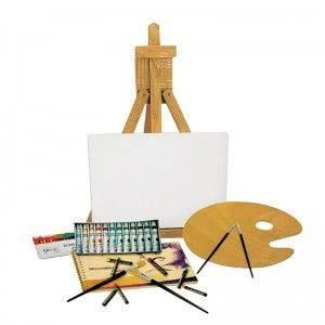 mat riel de peinture acrylique lot de peinture toile chevalet pinceaux achat vente peinture. Black Bedroom Furniture Sets. Home Design Ideas
