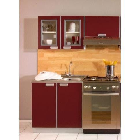 Cuisine opale bordeaux 1m40   3 meubles   achat / vente cuisine ...