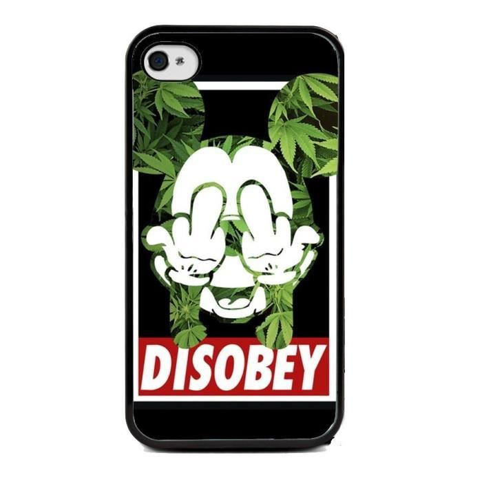 Coque iphone 5 5 s mickey disobey achat vente coque for Coque cdiscount