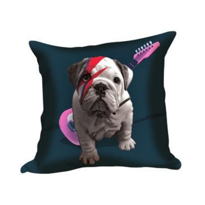 coussin bulldog star bleu nuit achat vente coussin cdiscount. Black Bedroom Furniture Sets. Home Design Ideas
