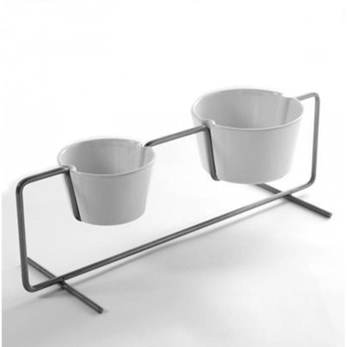 Pot d coratif ext rieur en m tal graphique et porcelaine - Pot decoratif exterieur ...