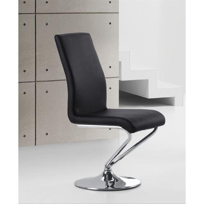 Chaises design noir turn par4 achat vente chaise for Les chaises design